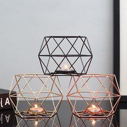 Nordic Style Geometric Iron Candlestick <font><b>Candle</b><