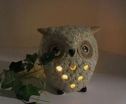 OWL INCENSE BURNER & CANDLE HOLDER  Votive HIGH QUALITY CERA