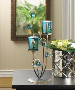 Peacock Plume Candle Holder Lantern Table WEDDING Centerpiec