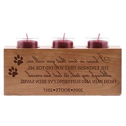 LifeSong Milestones Personalized Pet Memorial sympathy candl