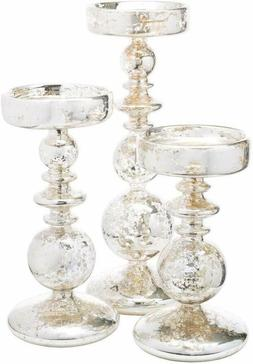Richland Pillar Candle Holders Unique Mercury Bubble