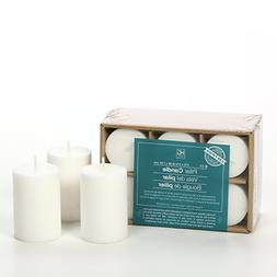 Hosley 2x3 High Pillar Candles, Set of 6. White, Unscented.