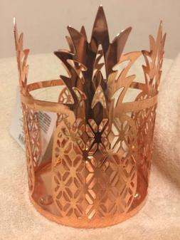 PINEAPPLE CANDLE HOLDER SLEEVE NWT Free Ship Rose Color Meta