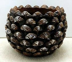 YANKEE CANDLE PINECONE JAR CANDLE HOLDER