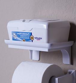 Small Plastic Bathroom Shelf for Smartphone and Flushable Ba