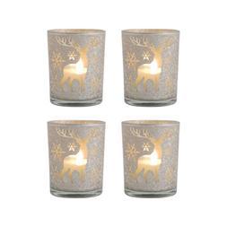 Pomeroy Reindeer Set of 4 Pillar Holders