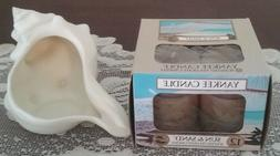 Yankee Candle Porcelain SEA SHELL CANDLE HOLDER + SUN & SAND