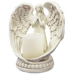 KiaoTime Praying Angel Figurine Wings Angel Flamless Candle