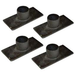 Primitive Black Rustic Iron Taper Candle Holder Set of 4 - 3