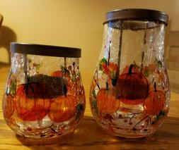 Yankee Candle Pumpkin Crackle Tea Light Candle Holder