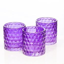 Richland Purple Chunky Honeycomb Glass Votive & Tealight Can