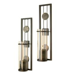 Danya B QBA636 Accents Home Decor Candle Holders; Aged Metal