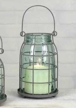 Quart - Vintage Style - Mason Jar Decorative Hanging or Tabl