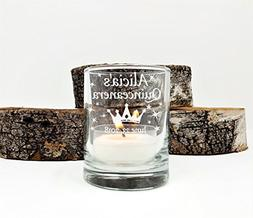 Quinceanera Personalized Party Favors Engraved Candle Holder