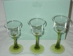 Partylite Radiant Glow Stemmed Trio Votive Tealight Candle H