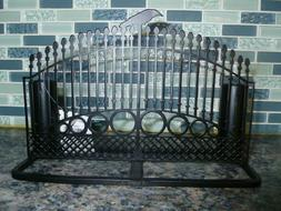 Yankee Candle Raven Night Taper Candle Holder Gate Fence Bla