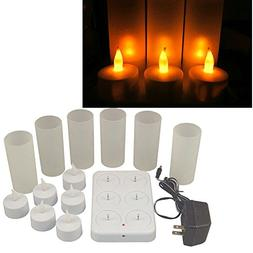 rechargeable flameless tea light candles