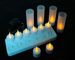 Rechargeable Flameless LED Tea Light Candles  With Frosted H