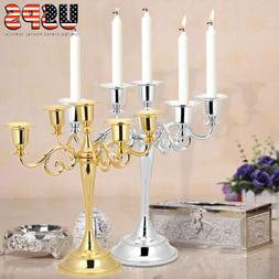 Retro 5 Arms Metal Candelabra Candle Holder Stand Romantic W