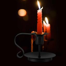 Retro Iron Taper Candle Holder Candlestick Stand Candlelight