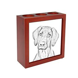 Rhodesian Ridgeback, wooden stand for candles/pens with the