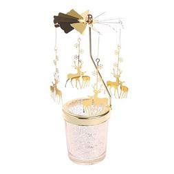 Romantic Rotary Spinning Candlestick Tealight <font><b>Candl