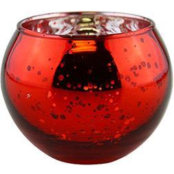 "Just Artifacts Round Mercury Glass Votive Candle Holder 2"" H"