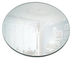 10 Inch Round Mirror Candle Plate Set - Box of 12 Mirror Tra