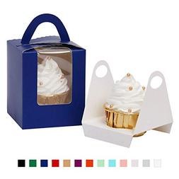 Yotruth Pop-up Cardboard Cupcake Boxes Royal Blue Gift Box 2