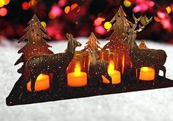 Rustic Candle Holder - Deer Silhouette Candle-Holder - Antiq
