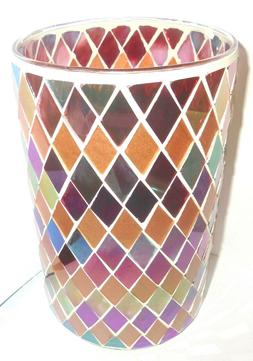 Yankee Candle RUSTIC MOSAIC Large Jar Candle Holder - New in