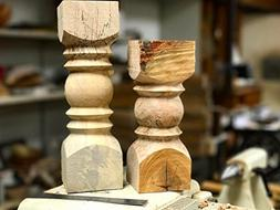 Rustic Wood Candlestick Candle Holder
