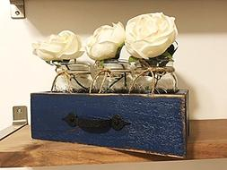 Rustic Wooden Drawer With Mason Jars, Reclaimed Wood Drawer,