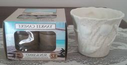Yankee Candle SANDY BEACH Sea Shell CANDLE HOLDER + Sun & Sa