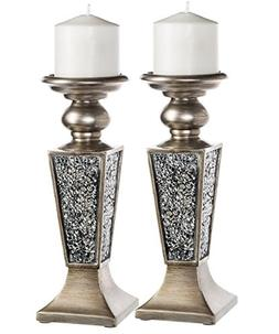Creative Scents Schonwerk Pillar Candle Holder Set of 2- Cra