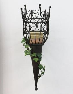 Sconce Castle 92066 Wall mounted candle holder made from met