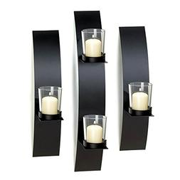 Sconces Candle, Modern Black Wall Sconce Candle Holder Set B