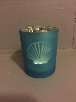 Sea Candle Holder - Light Blue Sea Shell