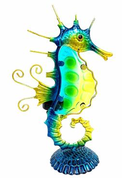 Seahorse with Color Glass Tealight Candle Holder & Home Deco
