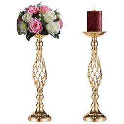 Sziqiqi 2 Pcs/Set Metal Flower Vase, Wedding/Party Flowers C