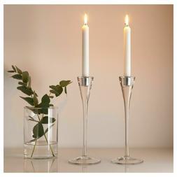 Set of 2 - Ikea GASTVANLIG Candlestick Candle Holder Glass 1