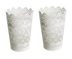 Set of 2 - Ikea SKURAR Lantern for Block Candle Holder Lace
