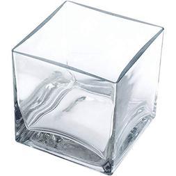 "6 PC Clear Square Glass Votive Candle Holder Centerpiece 6"""