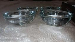 Hosley 18 piece set of tealight clear thick glass candle hol