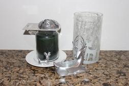 Yankee Candle Shimmering Forest Jar Candle Holder/Topper/Tra