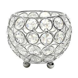 VINCIGANT Silver Christian Table Centerpiece Crystal Candle