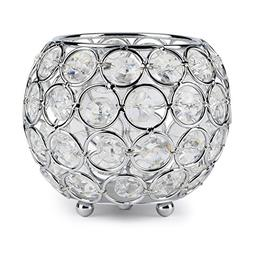 Autai Silver Crystal Candle Holder for Wedding Centerpieces