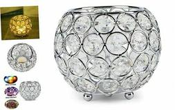 Silver Crystal Candle Holder for Wedding Centerpieces Candle