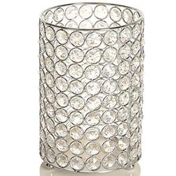 VINCIGANT Home Decoration Silver Crystal Floor Vase/Tealight