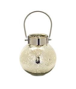 Melrose 8 inches Height Silver Decorative Jar Candle Holder